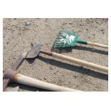 Hoe, Pick-axe, Rake & Edger
