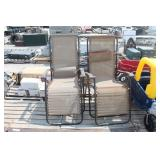 Pair of Folding Lounge Camp Chairs & Bag