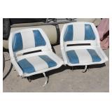 Pair of Folding Boat Seats