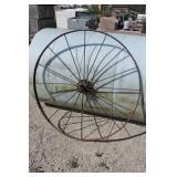 Large Antique Iron Implement Wheel