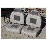 Pair of Folding Vinyl Boat Seats