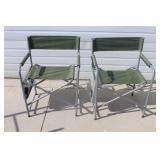 Pair of Director Style Camping Chairs