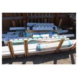 Bargain Lot: White Fence Post & Parts