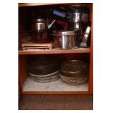 Cupboard Full of Lavorseal Pots & Pans, Glass