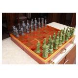 Large Asian Chess Set w/Cedar Wood Board