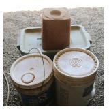 Bargain Lot: Alfalfa Pellets, Empty Tub &
