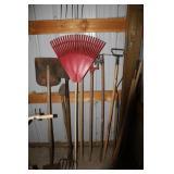 Leaf Rake, Shovels, Pitch Fork & More