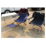 (2) Colman Folding Chairs & (1) Folding Table