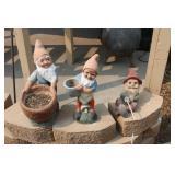 (3) Yard Gnomes