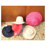 5 Ladies Hats & Bailey Hat Stand