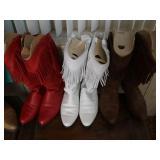 Laidies Fringed DINGO Cowboy Boots (3 pr)