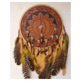 Dream Catcher with Tooled Leather