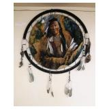 Dream Catcher with Indian Warrior
