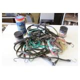 Box of Bungee Cords & Tarp Straps