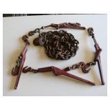 9ft Chain w/Hooks & (4) Chain Binders