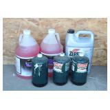 Antifreeze, 3 small Propane Bottles