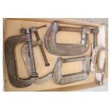 Box of Assorted C-Clamps