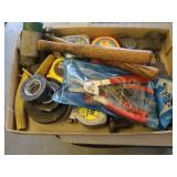 Bargain Lot: Hammers, Tape, Snap Ring Pliers,...