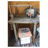 Airco Welder, 110 Volt Welder, & Welding Table