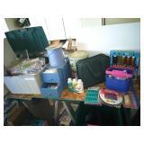 Collection of Scissors Set, Glitter Glue, Cord,...