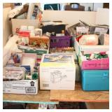Bargain Lot: Sewing Accessories, Fabric, Wax, ...