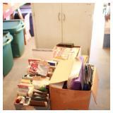 Bargain Lot: Wooden Cabinet, Misc. Computer ...