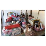 Bargain Lot: (2) Table Lamps, Party Supplies, ...
