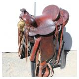 "14"" Hereford Brand Texas Tanning Saddle"