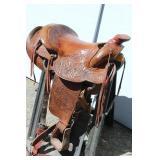 """Western Leather Saddle - 15-1/2"""""""