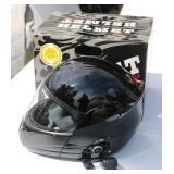 Motorcycle Helmet w/Blinc Bluetooth - Large