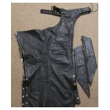 """""""Hot Leathers"""" Leather Chaps - Size Small"""