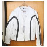 Leather Productions White Leather Coat - 4XL
