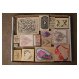 10+ Heart Themed Rubber Stamps