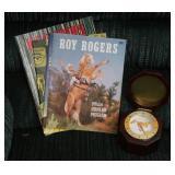 Desk Clock & Roy Rogers Souvenir Program Dated