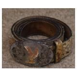 Leather Belt w/Sterling Buckle