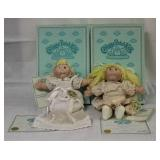 Lot of 2 Porcelain Cabbage Patch Dolls