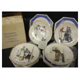 Norman Rockwell Four Seasons Plate Set