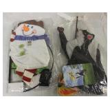 Lot of Yard Flags Snowman & Cat