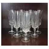 Set of 8 Crystal Champagne Glasses