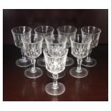 Set of 8 Crystal Cordial Glasses