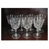 Set of 7 Crystal Glasses