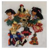 Lot of 9 Dolls