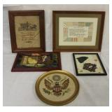 Lot of 5 Framed Needlepoint Pictures