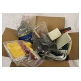 Box Lot of Misc Paint Brushes & Supplies