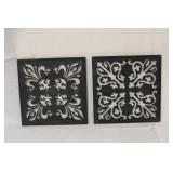Set of 2 Metal Cutout Wall Décor