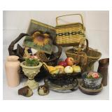 Basket & Home Decor Lot