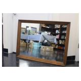 Large Wood Framed Wall Hanging Mirror