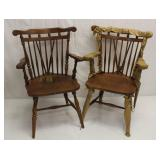 Set of 2 Wooden Chairs