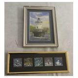 Lot of 2 Lighthouse Picture & Stamp Set