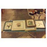 huge box lot of artwork prints and frames